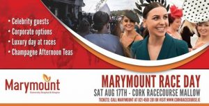 Judges & prizes announced for Marymount Charity Raceday at Cork Racecourse on August 17th
